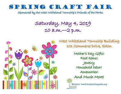 Spring Craft Fair 2019 flyer