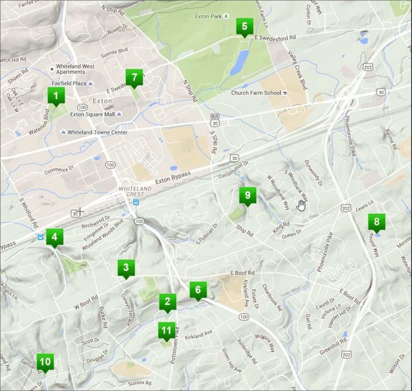 Twp Parks Map