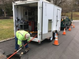 Sewer inspection trailer